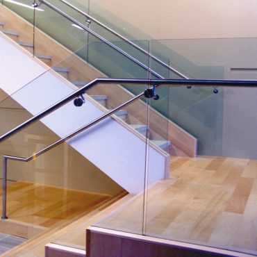 custom-shower-doors-niles-glass-stair-railing-niles